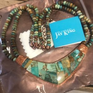 Jay King Mine Finds DTR Copper Turquoise Necklace